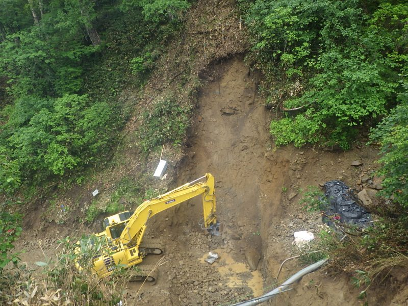 第2号 谷止工 掘削