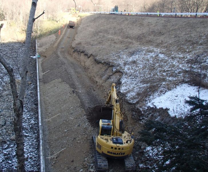 《鱒見工区》切盛土工・工事用道路工